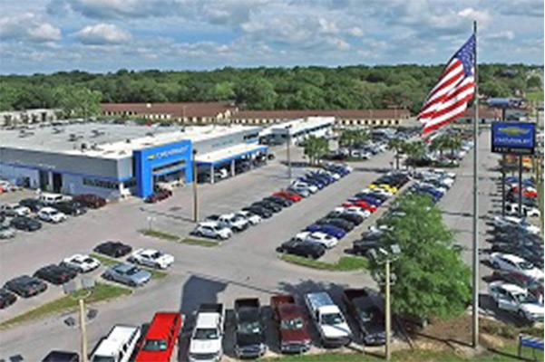 Aerial view of dealership