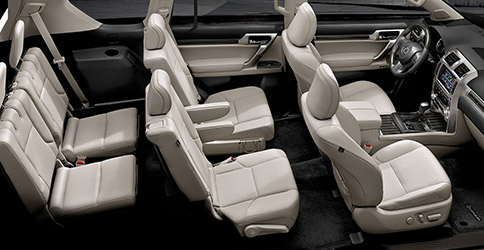Lexus GX three rows of seats