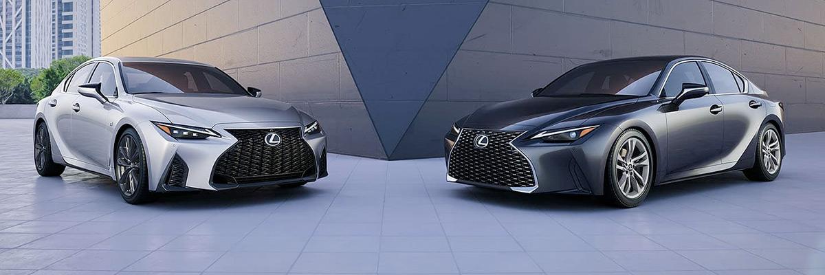 2021 Lexus IS side-by-side