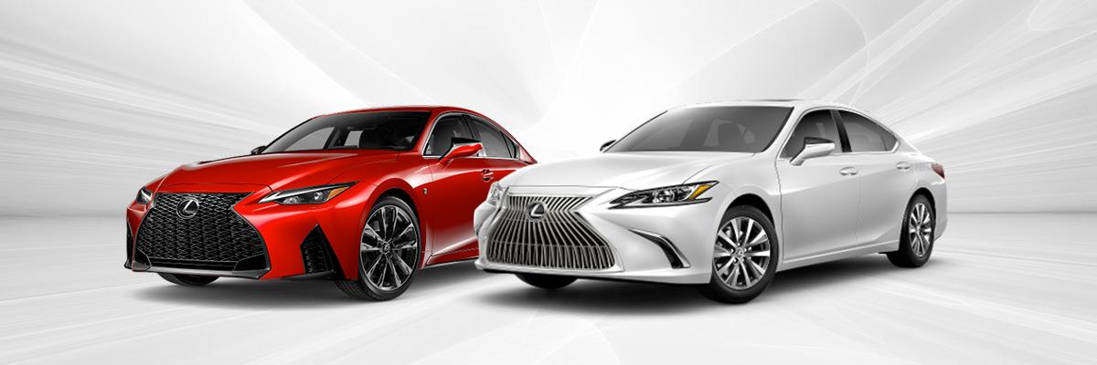 Lexus IS and Lexus ES side-by-side