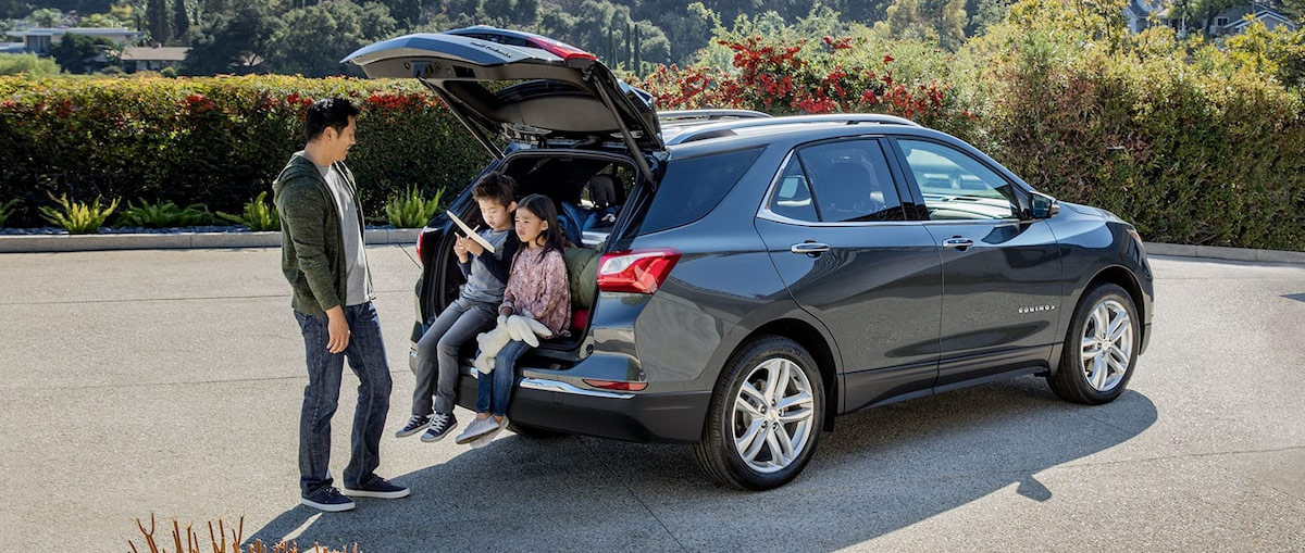 2021 Equinox SUV With family sitting in the back